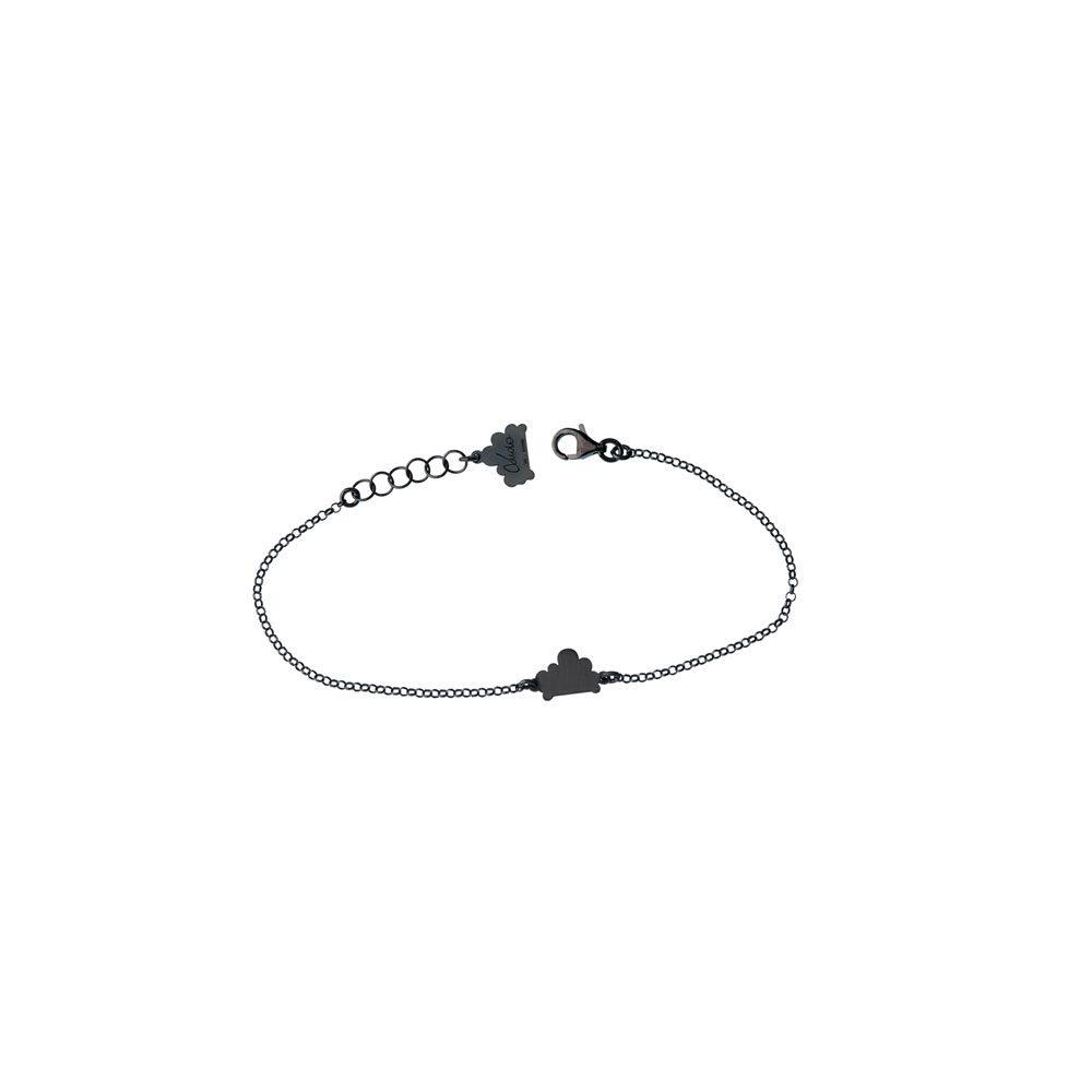 Single Cloud Chain Oxidized Silver Bracelet Nimbus Ludo LudoJewellery