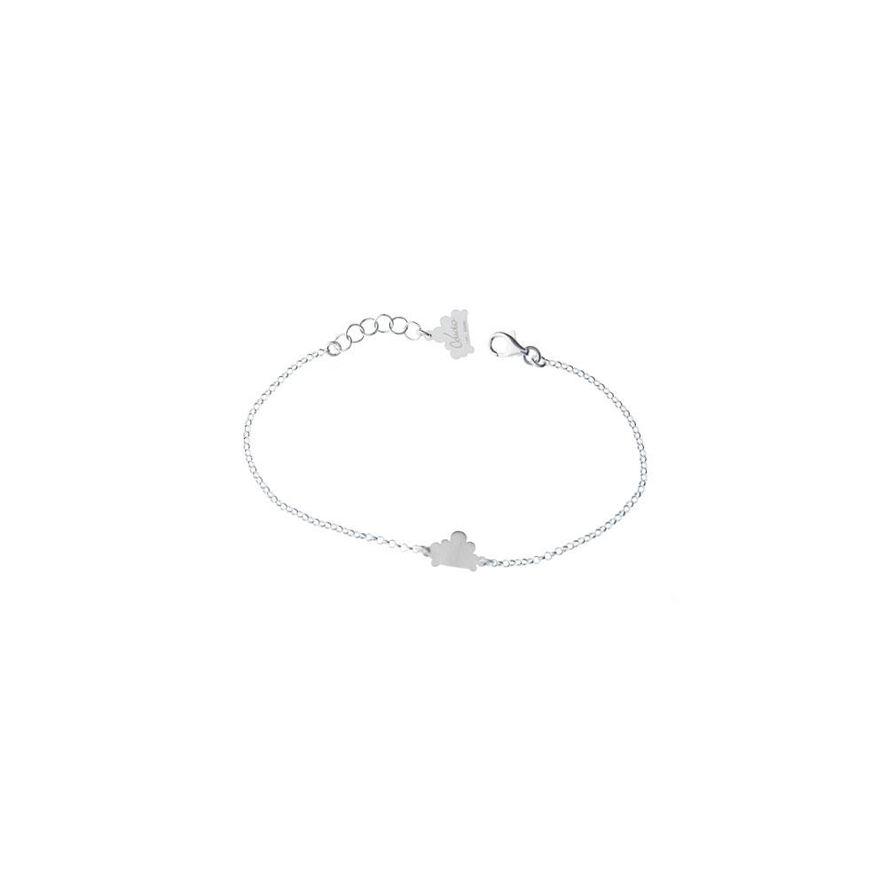 Single Cloud Chain Satin Silver Bracelet Nimbus Ludo LudoJewellery
