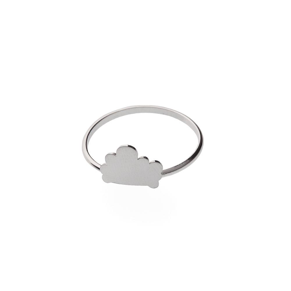Cloud Satin Silver Rings Nimbus Ludo LudoJewellery