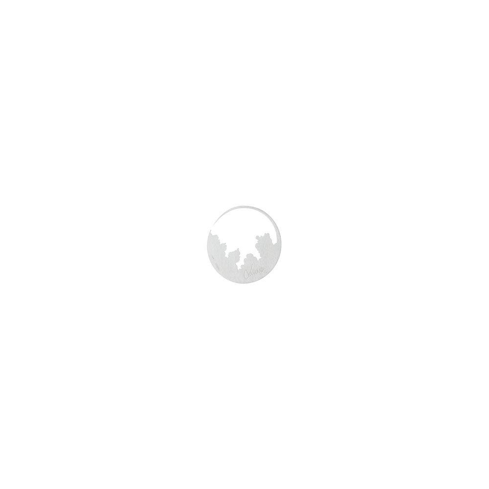 Logo Satin Cloudy Hoop Earring Silver Still Life Nimbus Ludo @LudoJewellery