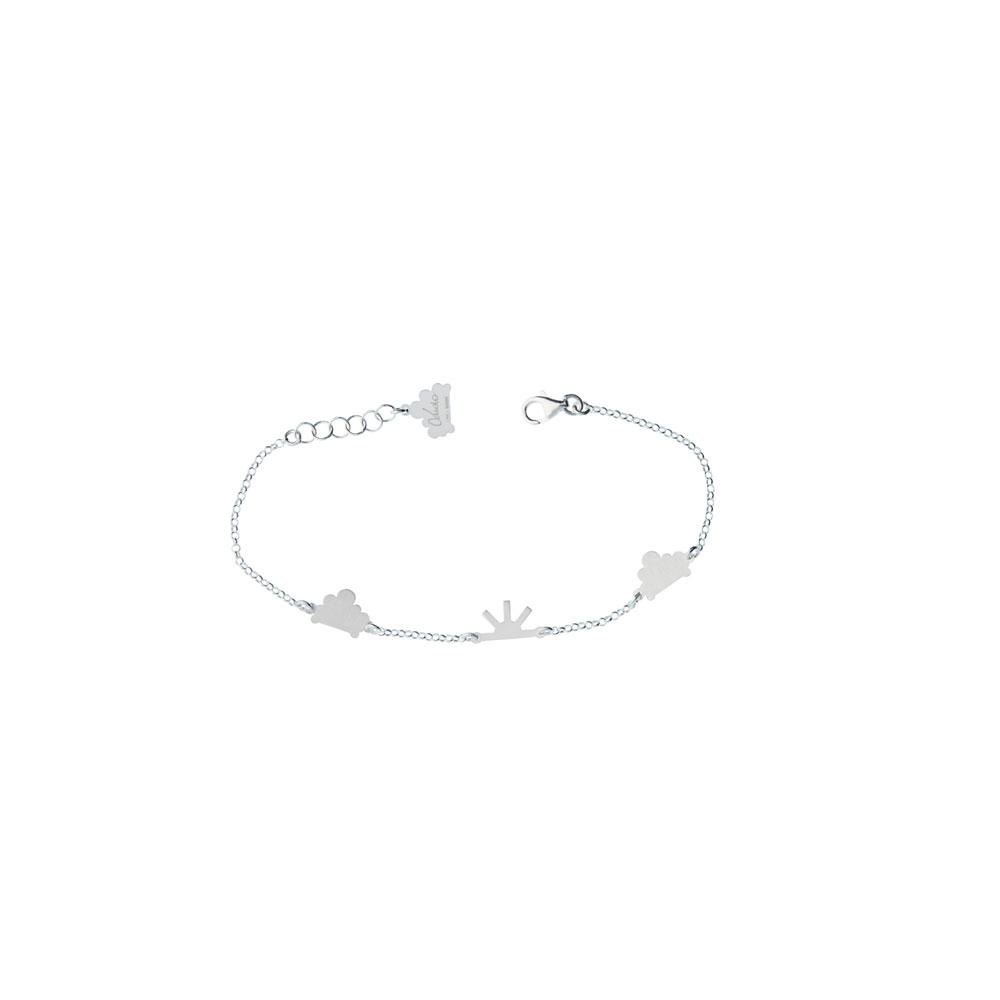 Cloudy Chain Satin Bracelet Silver Nimbus Ludo LudoJewellery