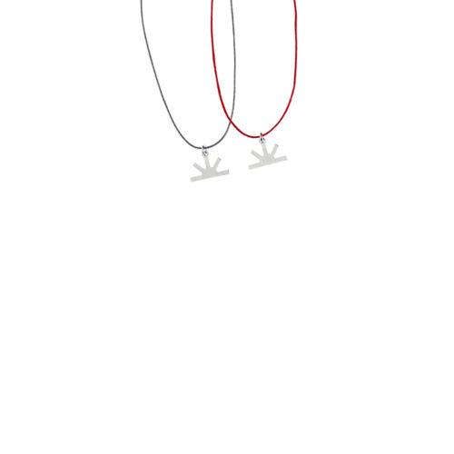 Sun Charm Satin Thread Necklace Silver Nimbus Ludo LudoJewellery