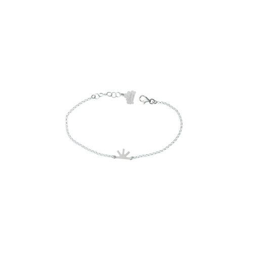 Single Sun Chain Satin Bracelet Silver Nimbus Ludo LudoJewellery