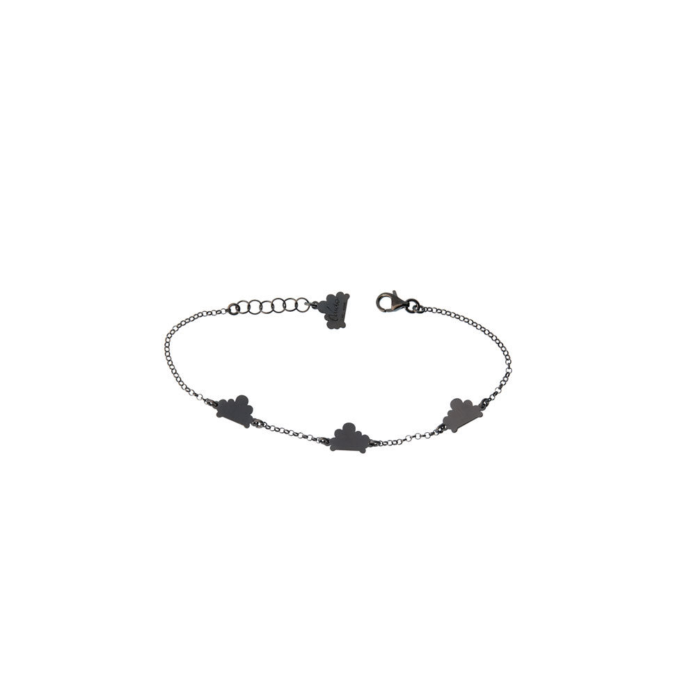 Triplet Cloud Chain Oxidized Bracelet Silver Nimbus Ludo LudoJewellery