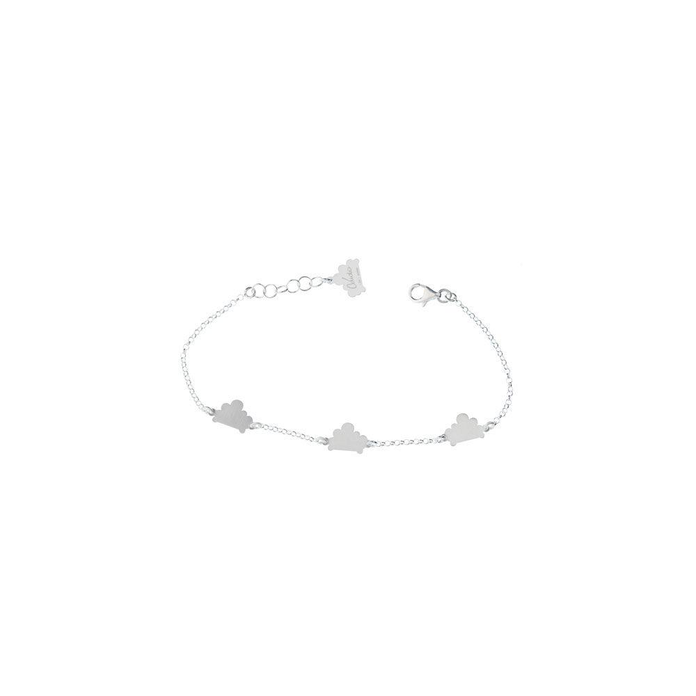 Triplet Cloud Chain Satin Bracelet Silver Nimbus Ludo LudoJewellery