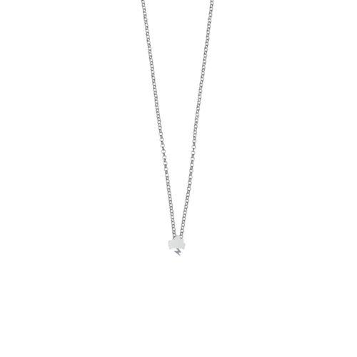 Tiny Storm Necklace High Polish Silver Nimbus Ludo LudoJewellery
