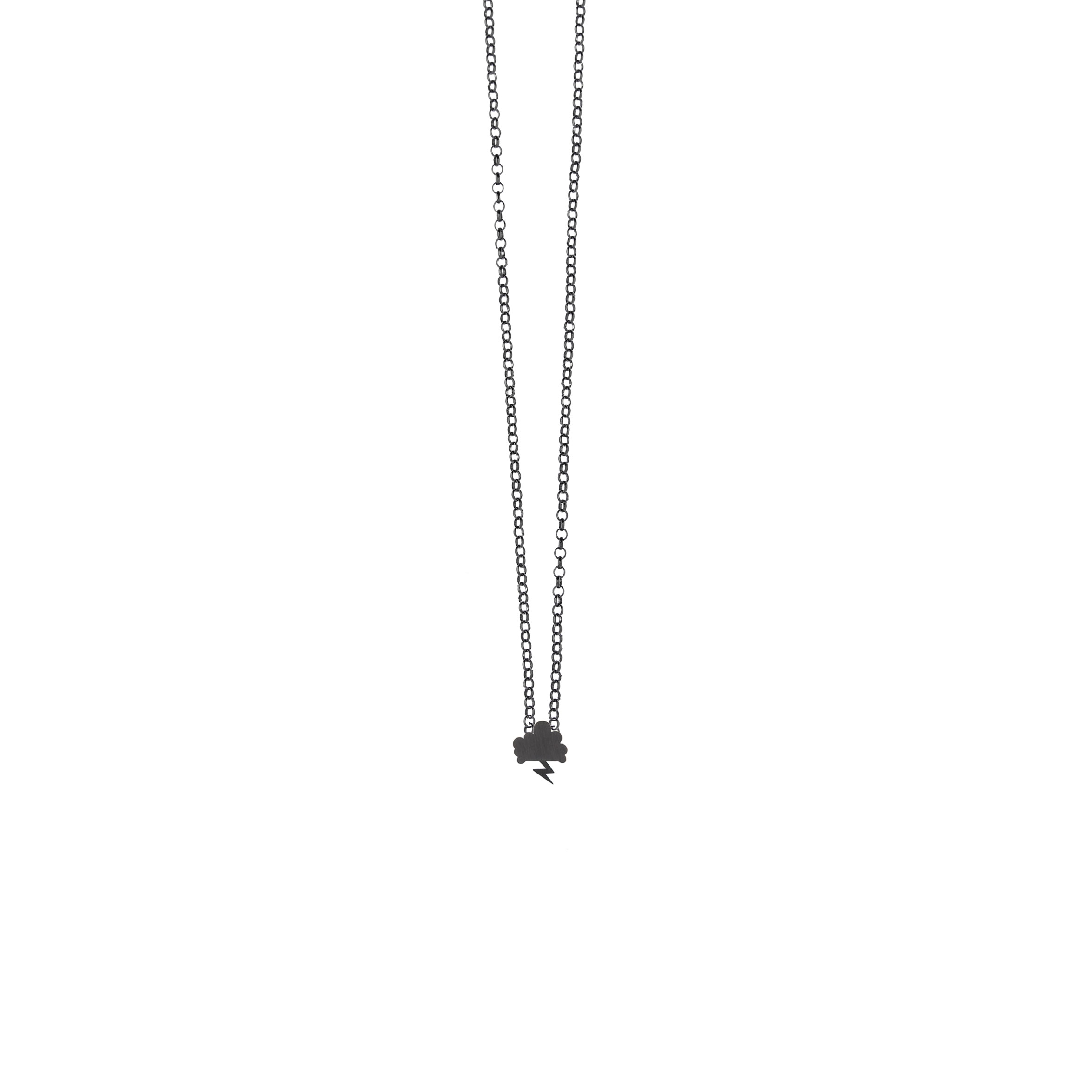 Tiny Storm Necklace Oxidized Silver Nimbus Ludo LudoJewellery