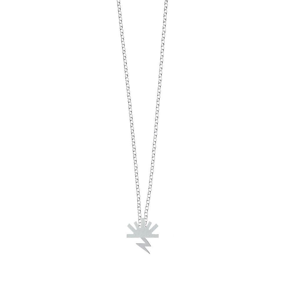 Bow Necklace Satin Sun Satin Lightning Silver Nimbus Ludo LudoJewellery