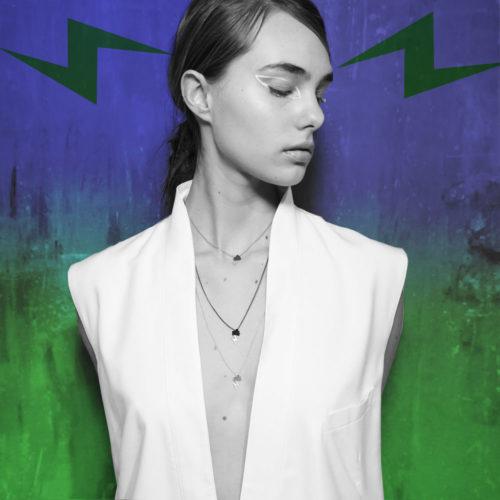 Campaign Tiny storm necklace Satin High Polish Oxidized Silver Nimbus Ludo LudoJewellery