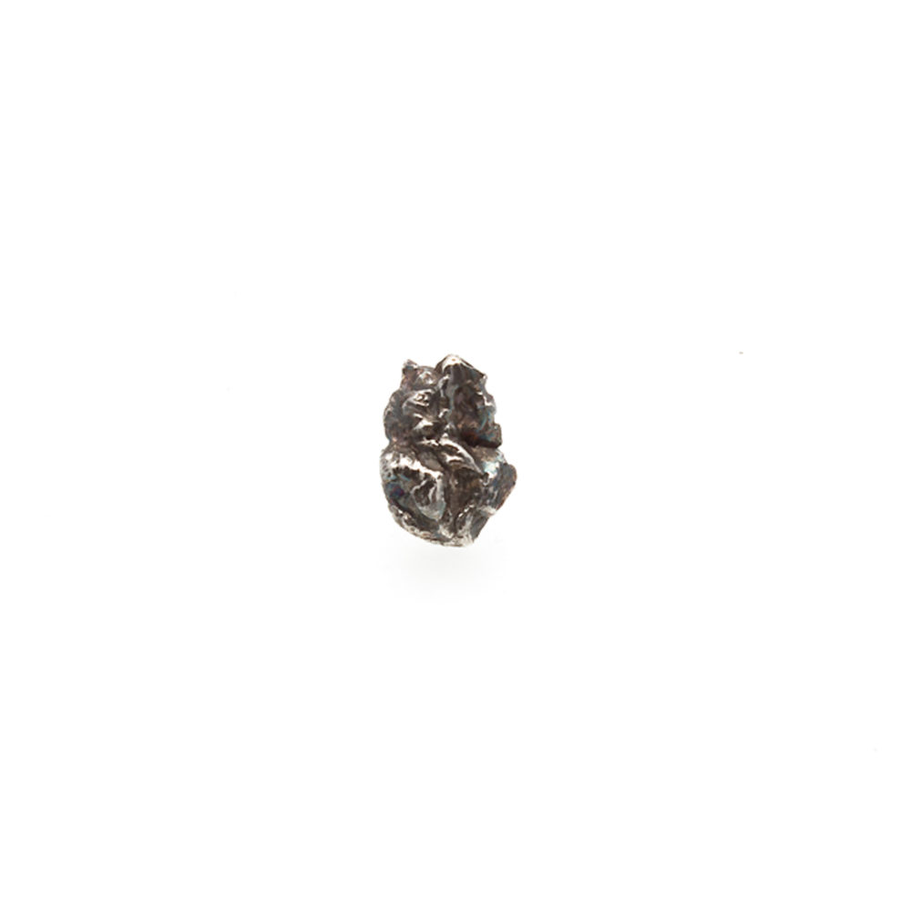 Doctum Doces Collection 2018 bark-stud-earring-silver-front-view