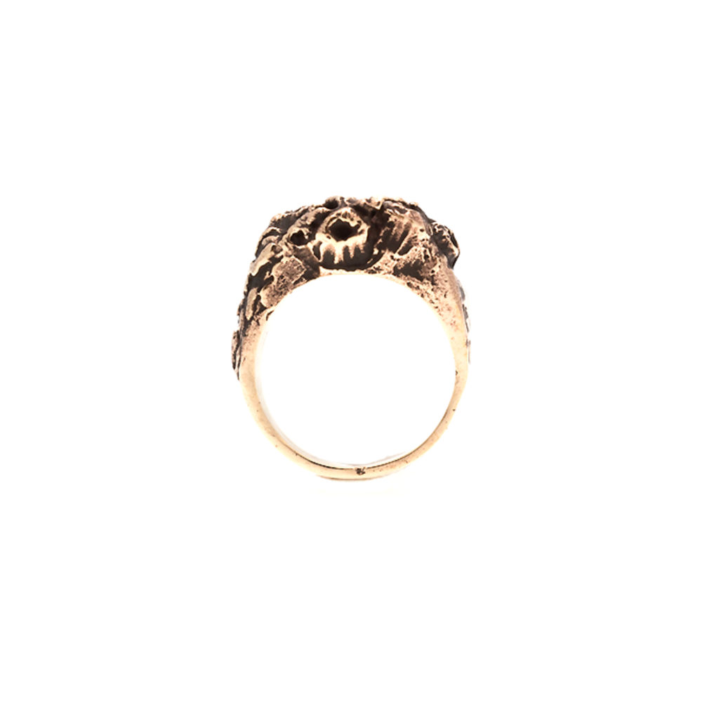 Doctum Doces Collection honeycomb-ring-1-bronze-front-view-side-b