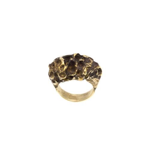 Doctum Doces Collection honeycomb-ring-3-brass-top-view