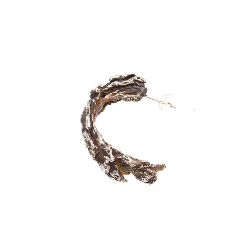 Doctum Doces Collection hoop-earring-silver-left-side