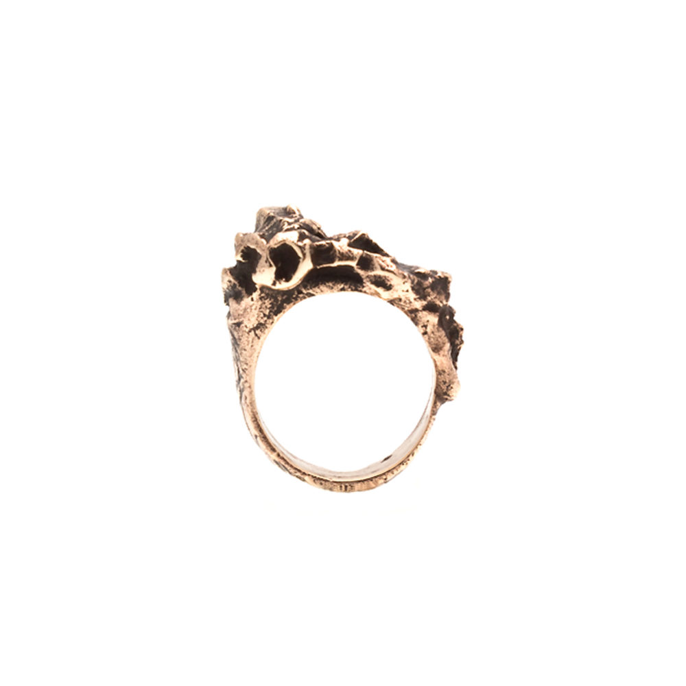 Doctum Doces Collection inlay-ring-bronze-front-view