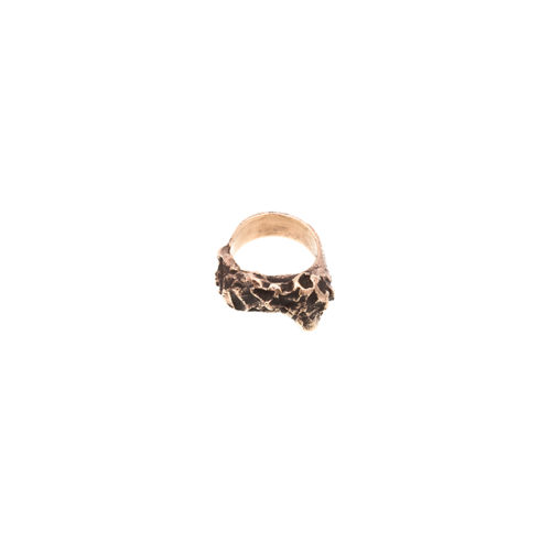 Doctum Doces Collection inlay-ring-bronze-side-a