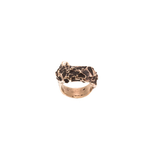 Doctum Doces Collection inlay-ring-bronze-top-view