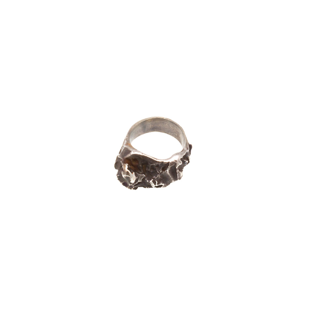 Doctum Doces Collection inlay-ring-silver-side-a