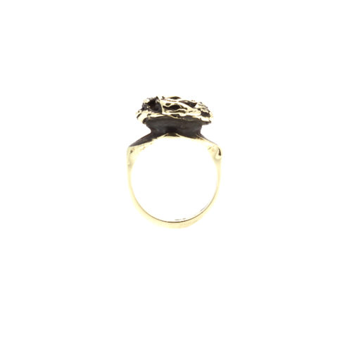 Doctum Doces Collection knot-ring-brass-front-view