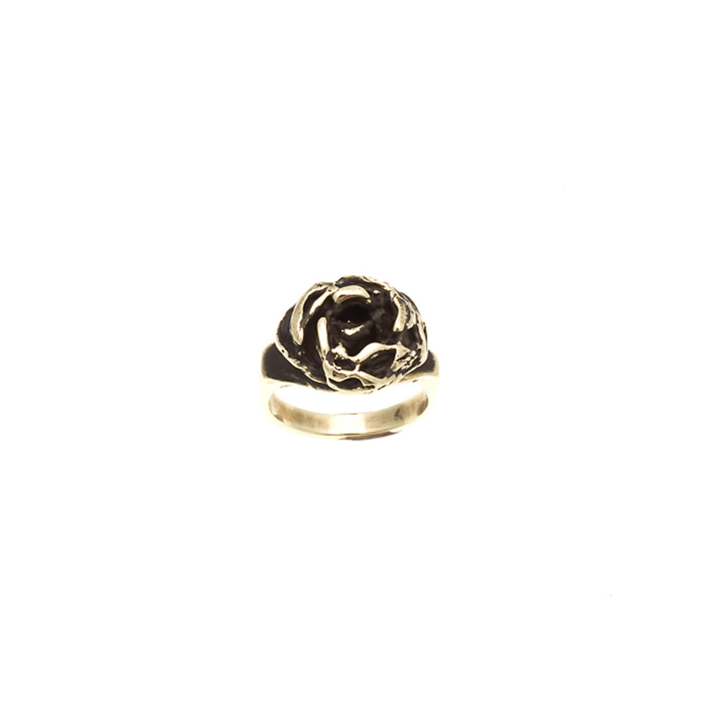 Doctum Doces Collection knot-ring-brass-top-view