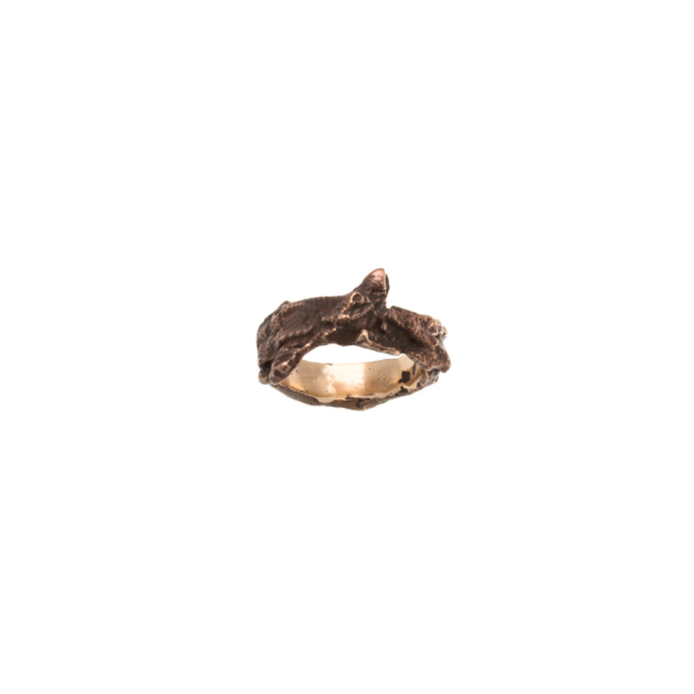 Doctum Doces Collection bark-2-bronze-ring -top-view
