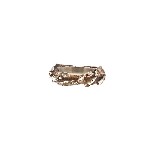 Doctum Doces Collection-bark-ring-5-silver