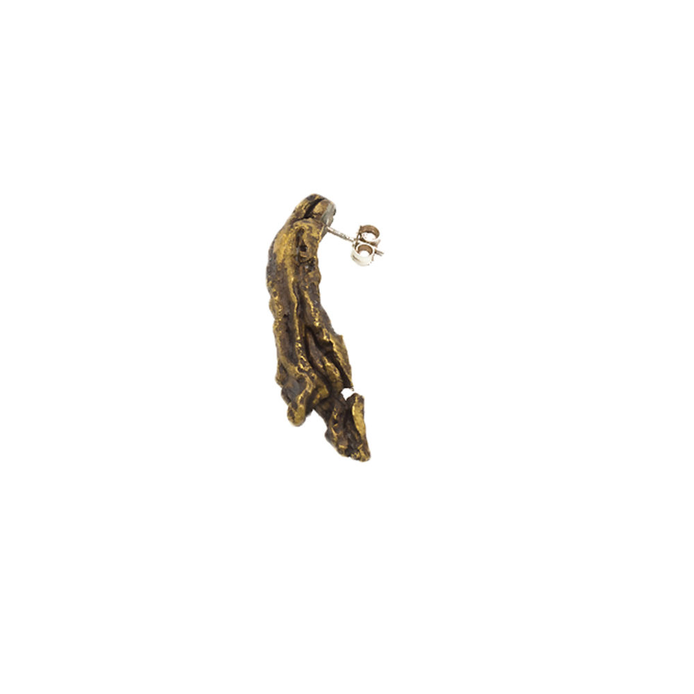 Doctum Doces Collection long-earring-brass-side-view2