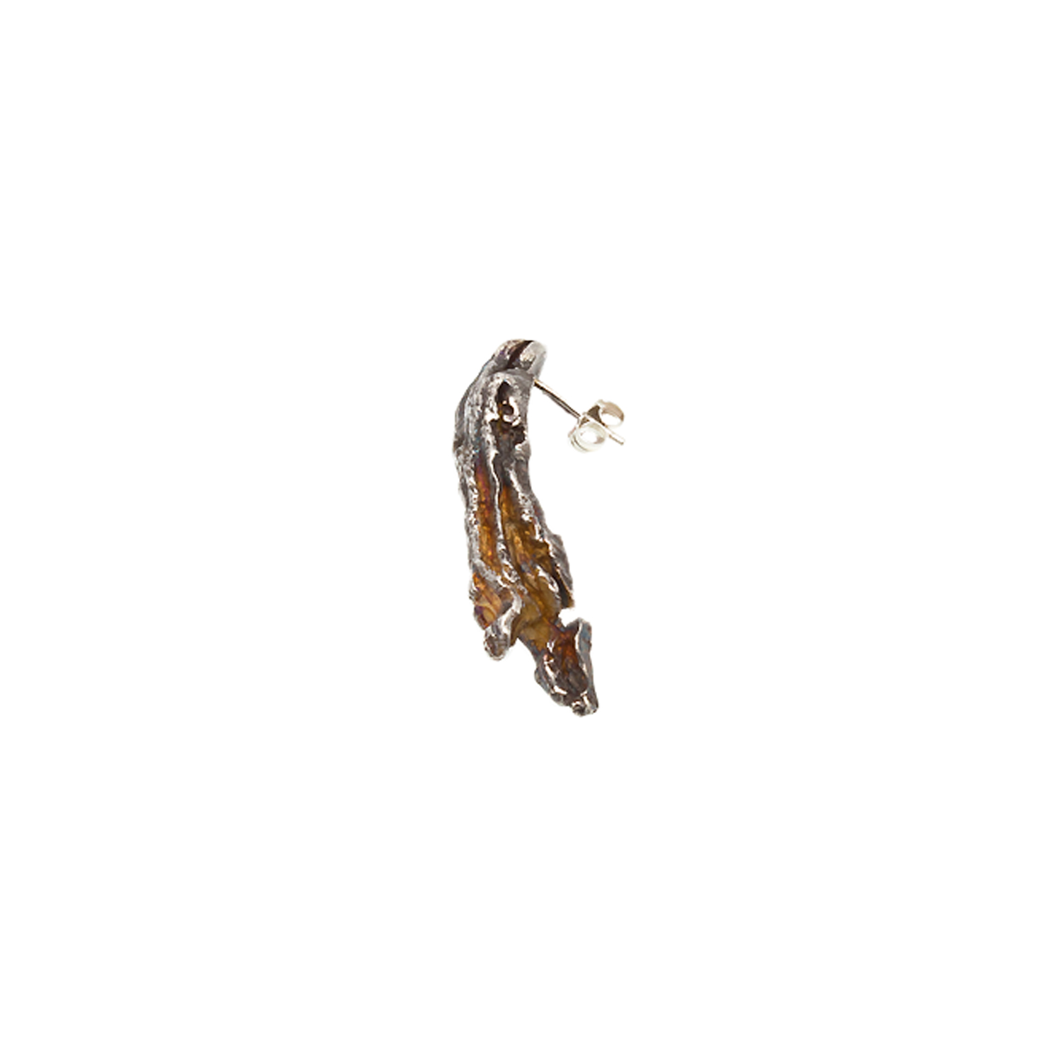 Doctum Doces Collection long-earring-silver-side-view2