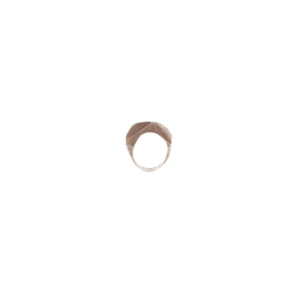 Doctum Doces Collection shake-ring-1-silver-side-a-front-view
