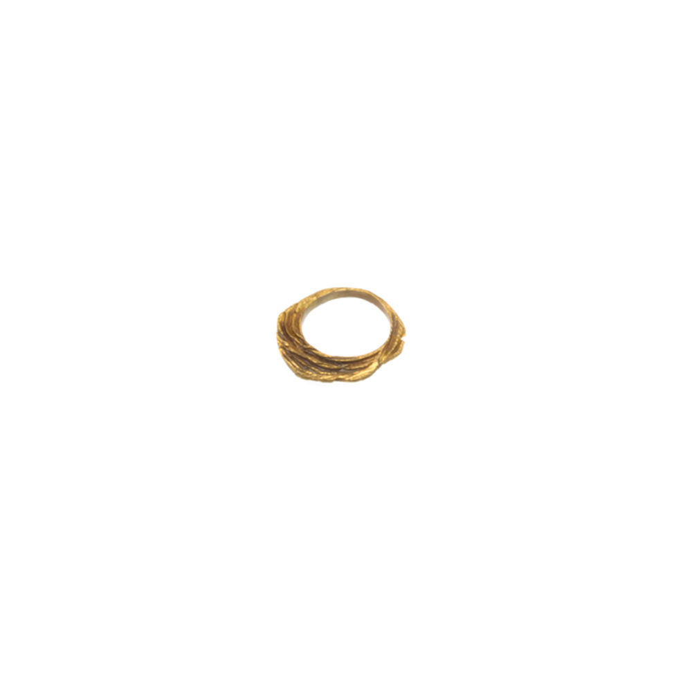 Doctum Doces Collection shake-ring-2-brass-top-view-side-a