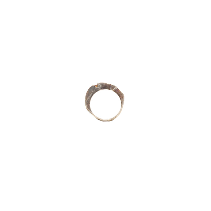 Doctum Doces Collection shake-ring-5-silver-front-view-side-b